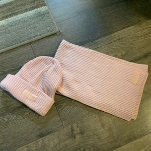 Victoria's Secret Pink beanie and scarf